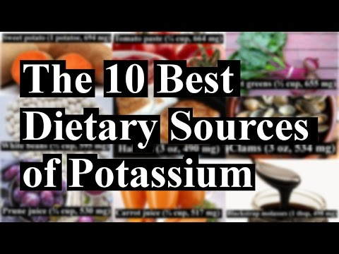The 10 Natural Dietary Sources of Potassium
