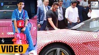 Salman Khan Checks Out The Latest Ferrari Of Dubai