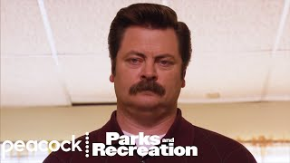 Ron Swanson Tries Meditation - Parks and Recreation