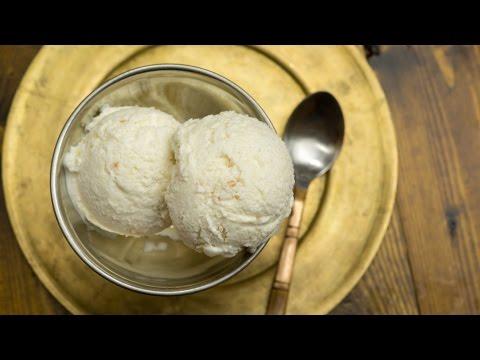 Litchi Ice Cream Recipe | How to make Lychee Ice Cream ~ 3 Ingredient Ice Cream