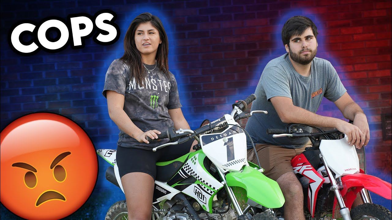 Getting chased by COPS with BRAYDON PRICE on PITBIKES...Cops and Robbers