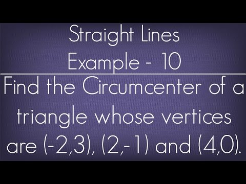 Straight Lines Example - 10 l Maths Geometry