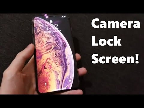 How to open Camera Lock Screen iPhone XS & XR (iOS 12)