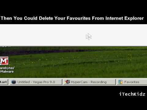 Windows 7, Windows Vista, Windows XP - How to delete your Favourites?