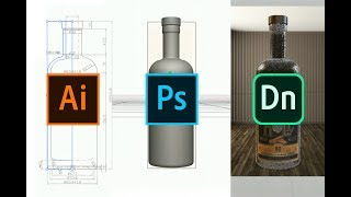 Create 3D objects (.OBJ) using Illustrator & Photoshop for Adobe Dimension product mock-ups