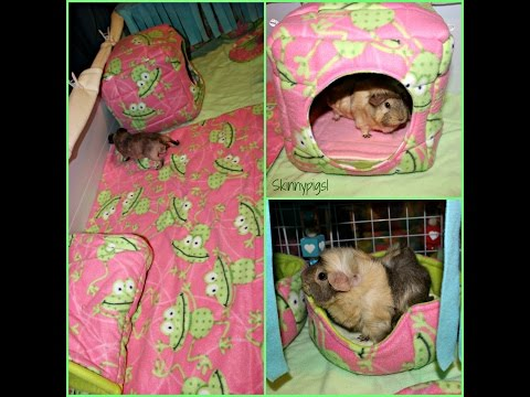 Guinea Pig ROOM & CAGE TOURS! C&C Cages With Fleece