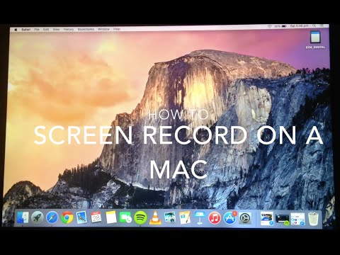 How to Screen Record on Macbook Yosemite 2015