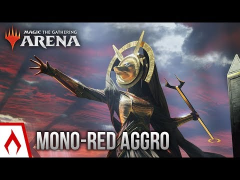 [MTG Arena] New Game! | Mono-Red Aggro Deck Gameplay