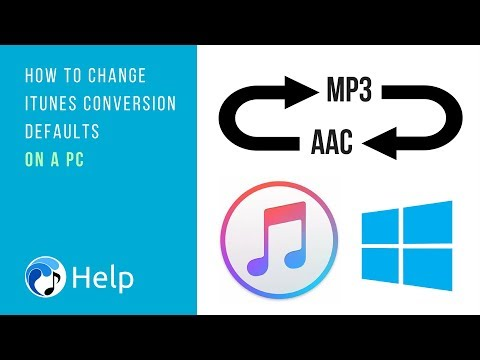 How to Change iTunes Conversion Defaults on a PC
