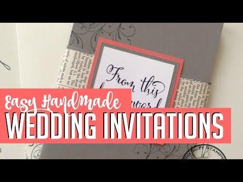 Easy DIY Handmade Wedding Invitations How-to