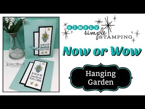 Simply Simple NOW or WOW Flash Card - Hanging Garden by Connie Stewart