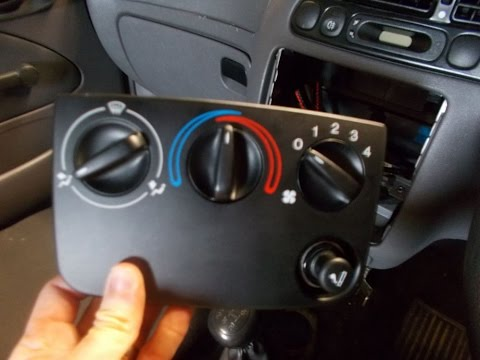 Ford Fiesta Heater Control Unit Removal