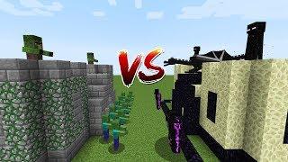 Minecraft Battle: CASTLE ZOMBIE VS CASTLE ENDERMAN