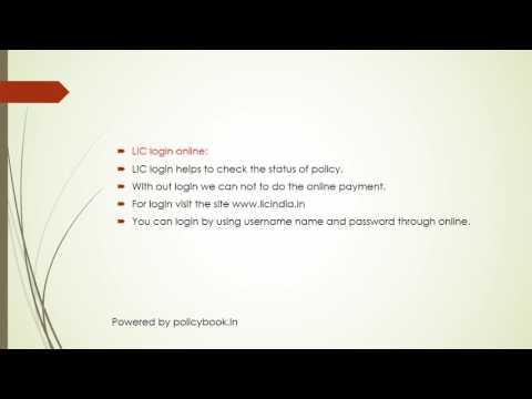Steps for LIC login