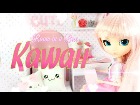 DIY - How to Make: Doll Room In A Box: Kawaii - Handmade - Crafts