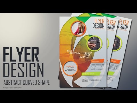 Photoshop Tutorial - Abstract Curved Shape Flyer Design