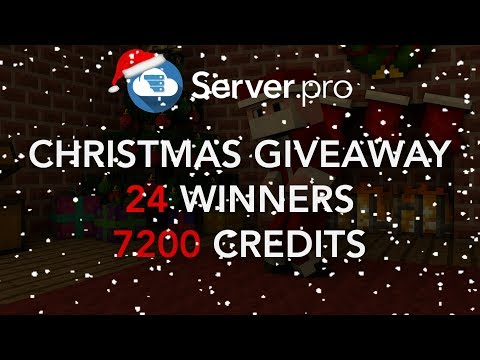 Christmas Giveaway for 7,200 credits - Server.pro