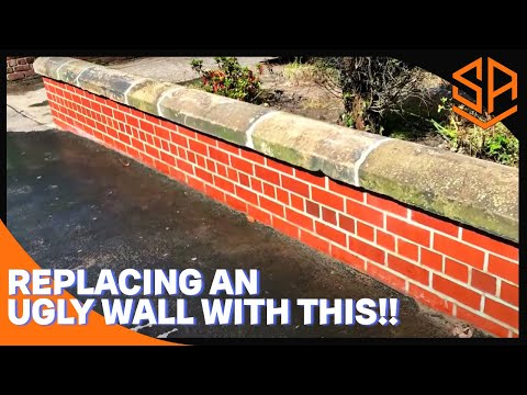 Bricklaying with Steve and Alex UGLY WALL DEMOLITION AND NEW WALL CONSTRUCTION