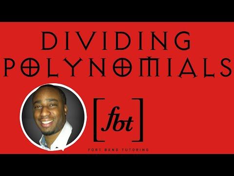 Dividing Polynomials Reduction Long Division Fbt