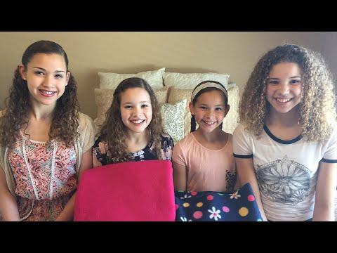 Tie Quilt!  Fun DIY Craft (Haschak Sisters)
