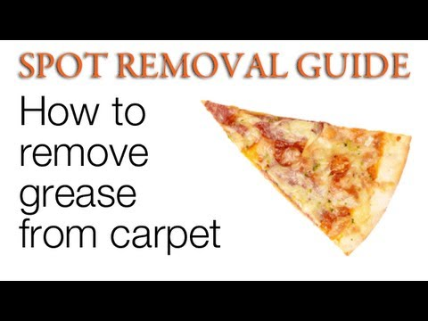 How to get Grease out of Carpet | Spot Removal Guide