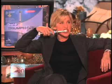 Ellen's second live commercial for the Oral-B Triumph with SmartGuide toothbrush