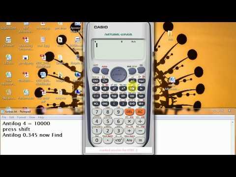 How  Find ANTILOG on calcultor FX 991ES +