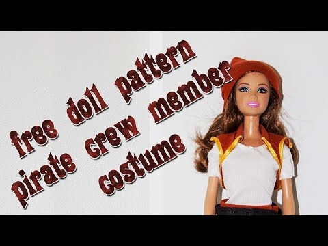 Make your own doll clothes - Pirate crew member outfit