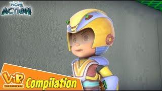 Vir The Robot Boy | Non Stop Action | Cartoon For Kids | Compilation 01