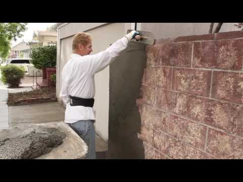 Rendering sand and cement plaster thickness over cinder block walls