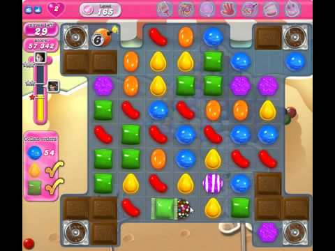 candy crush saga  level 165 - lose