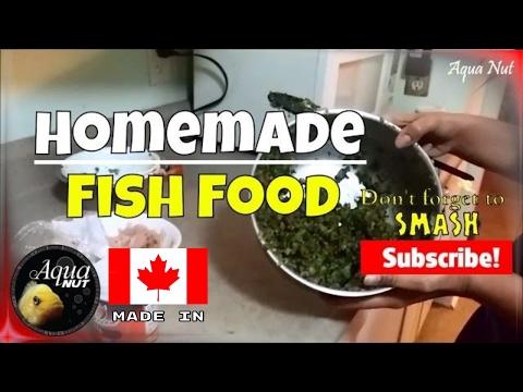 Homemade Fish Food | Preparing Food For Cichlids & Goldfish