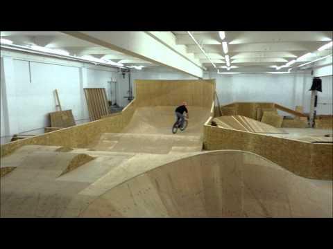 Lumber yard pump track