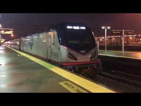 Amtrak Northeast Regional Departs New Haven, CT