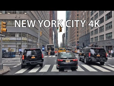 Driving Downtown - NYC's Ad Avenue 4K - New York City USA