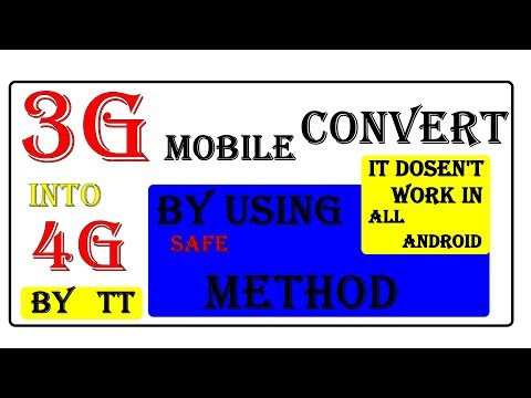 How to convert 3G phone into 4g Mobile