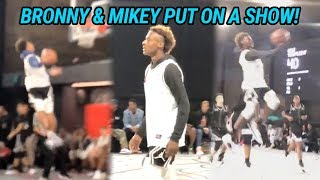Bronny James Brings Out The JELLY! Bronny & Mikey Williams GO CRAZY 🍇