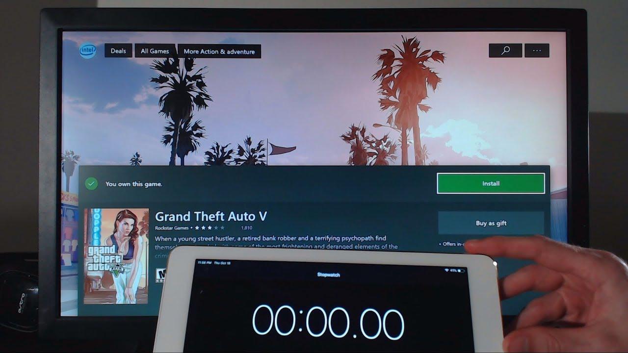 Downloading GTA 5 on XBOX ONE at 1000Mbps (Gigabit Fiber Optics Internet)