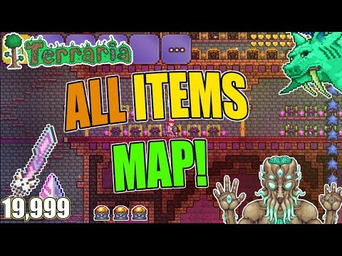 Terraria ALL ITEMS MAP For Ios/Android 1.2.4.1 VERY ORGANIZED ITEMS! (Soon 1.3)