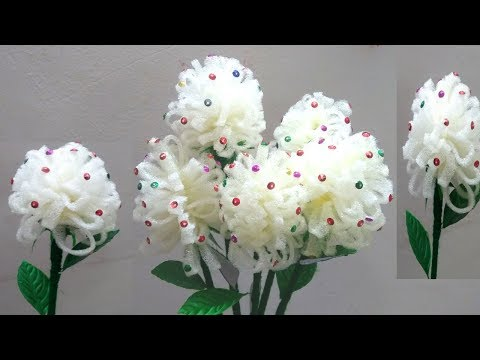 Make Flower Pot from Foam Sheet || Easy Lavender Flower / Guldasta :-