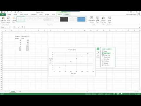 Graphing Data in Excel 2013