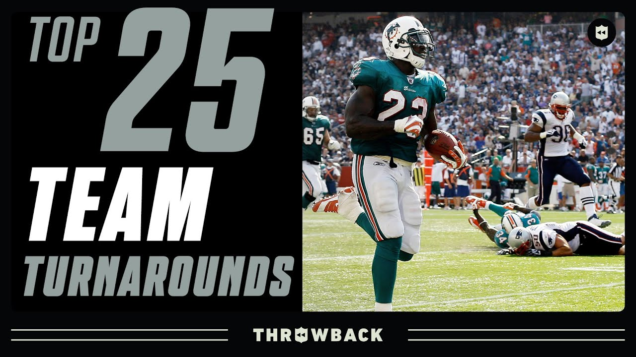 Top 25 Team Turnarounds in NFL History!