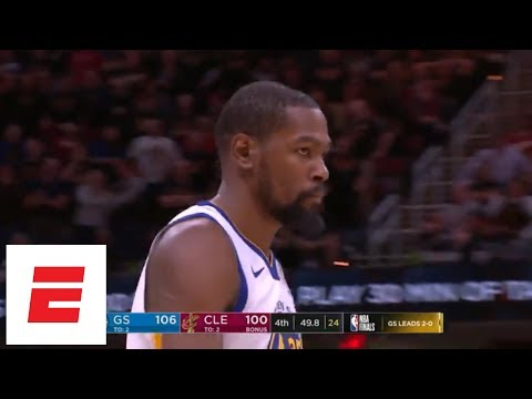 Kevin Durant's 'deja vu' dagger from Game 3 of 2018 Finals: All the angles, all the reactions | ESPN