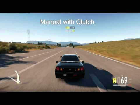 Forza Horizon 2: The difference between Automatic/Manual with Clutch