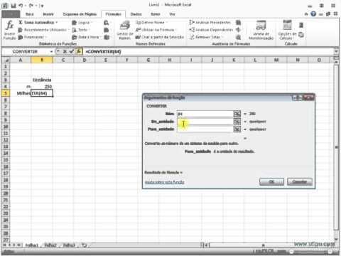 A função Converter no Excel