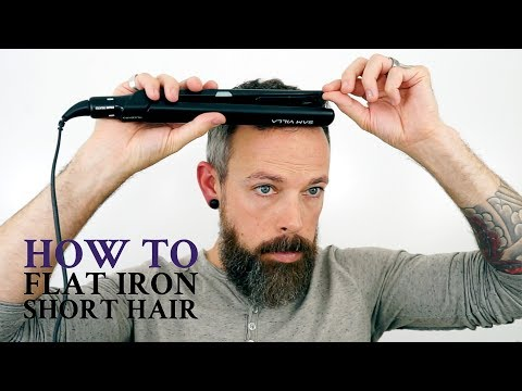 How to use a flat iron on men's short hair