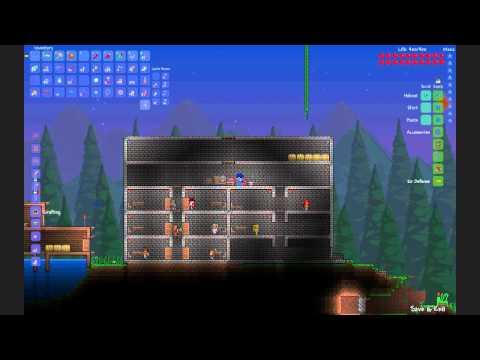Terraria 1.1 - Secret Retractable wall/door