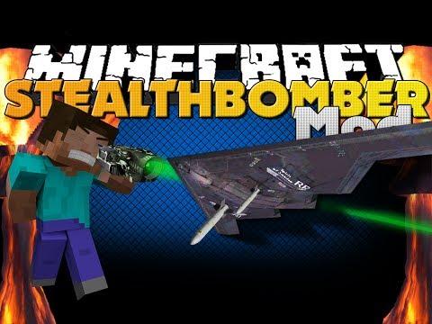 Minecraft Mod - Stealth Bomber Mod - NUKE EVERYTHING (Rival Rebels Mod)