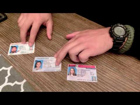 How to spot FAKE ID'S - Microprint
