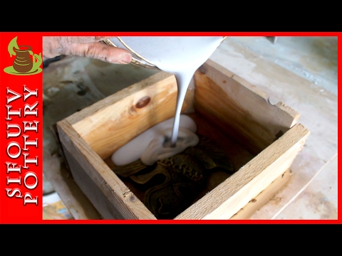 Pottery Making a plaster Mold - How to Plaster Mold Making for Ceramics with Sifoutv Pottery #43